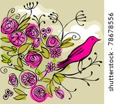 Pink Bird On A Flowery Branch ...