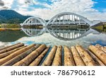 tha chomphu railway bridge or... | Shutterstock . vector #786790612