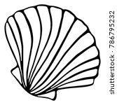 monochrome black and white sea...   Shutterstock . vector #786795232