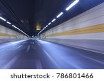 night  chinese city road tunnel | Shutterstock . vector #786801466