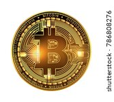 crypto currency golden coin... | Shutterstock .eps vector #786808276