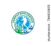 dive company logo | Shutterstock .eps vector #786810835
