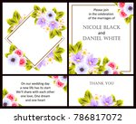 romantic invitation. wedding ... | Shutterstock .eps vector #786817072