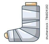 foot in plaster icon. cartoon... | Shutterstock .eps vector #786824182
