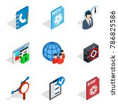 information vacuum icons set.... | Shutterstock .eps vector #786825586