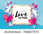 flying cupid   little angel.... | Shutterstock .eps vector #786827572