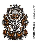 decorative and symmetrical... | Shutterstock .eps vector #78682879