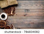 coffee concept. roasted beans ... | Shutterstock . vector #786834082