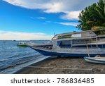 wooden boats on beach in lombok ... | Shutterstock . vector #786836485