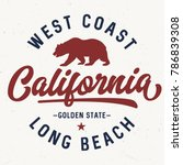 west coast california   tee... | Shutterstock .eps vector #786839308