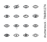 eye icon set | Shutterstock .eps vector #786841276