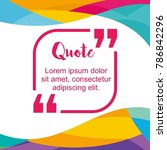 simple block quote frame ... | Shutterstock .eps vector #786842296