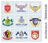 football and soccer college... | Shutterstock .eps vector #786846268