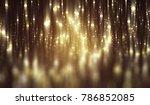 abstract gold bokeh circles....   Shutterstock . vector #786852085