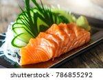 sashimi  salmon  japanese food... | Shutterstock . vector #786855292