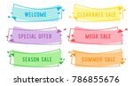 special offer sale flat linear... | Shutterstock .eps vector #786855676