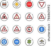 line vector icon set   sign... | Shutterstock .eps vector #786865492