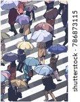illustration of city people... | Shutterstock .eps vector #786873115