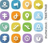 flat vector icon set   pointer... | Shutterstock .eps vector #786874468