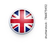 flag of united kingdom as round ... | Shutterstock .eps vector #786875452