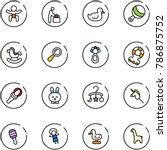 line vector icon set   baby... | Shutterstock .eps vector #786875752