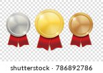 gold  silver and bronze shiny... | Shutterstock .eps vector #786892786