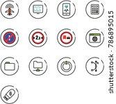 line vector icon set   plane... | Shutterstock .eps vector #786895015