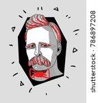 modern sculpture. t shirt... | Shutterstock .eps vector #786897208