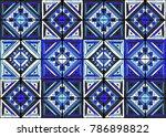 antique tiles. tribal vector... | Shutterstock .eps vector #786898822