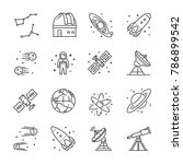 vector line icon set for... | Shutterstock .eps vector #786899542