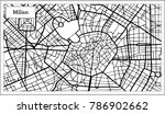 milan italy city map in black... | Shutterstock .eps vector #786902662