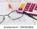 report financial statement...   Shutterstock . vector #786902866