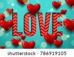 vector valentine's day design ... | Shutterstock .eps vector #786919105