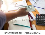 businessman give money. young...   Shutterstock . vector #786925642