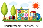 scene with climbing hoops and... | Shutterstock .eps vector #786926272