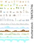 icon set of city and landscape | Shutterstock .eps vector #786926746