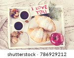 holidays  brakfast. coffee and... | Shutterstock . vector #786929212