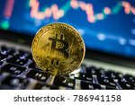bitcoin currency with... | Shutterstock . vector #786941158