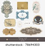 label tags for all kind of... | Shutterstock .eps vector #78694303