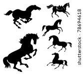 vector set of the horses on... | Shutterstock .eps vector #78694618