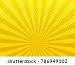 yellow shining halftone design...   Shutterstock . vector #786949102