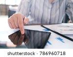 business accounting women work... | Shutterstock . vector #786960718