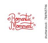 hand lettering valentine's day   Shutterstock .eps vector #786965746