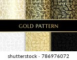 gold ink lines. seamless... | Shutterstock .eps vector #786976072