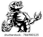 scary werewolf wolf man horror... | Shutterstock .eps vector #786980125