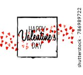 valentines day card with red... | Shutterstock .eps vector #786989722
