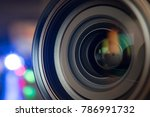 the photo or videocamera lens... | Shutterstock . vector #786991732