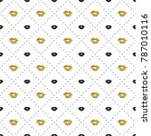 seamless pattern with black and ...   Shutterstock .eps vector #787010116