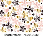 abstract geometric floral... | Shutterstock .eps vector #787010332