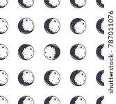 moon seamless pattern....   Shutterstock . vector #787011076
